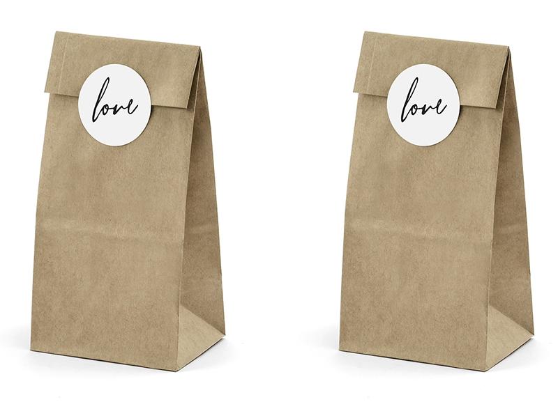 9f08b54d03d41 Podziękowania dla gości - eko torebki na słodycze op.6szt.